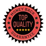 Guarantee stamp isolated on white. Guarantee stamp ribbon and badge style design element on white background Royalty Free Stock Images