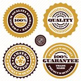 Guarantee stamp set. Premium quality guarantee sign. 100 percent guarantee. Guarantee stamp set. Premium quality guarantee sign. 100 percent guarantee vector Royalty Free Stock Images