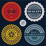 Guarantee stamp set. Premium quality guarantee sign. 100 percent guarantee.  Stock Illustration