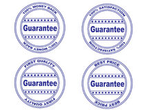 Guarantee stamp set (vector). Rubber ink stamp set: guarantee Royalty Free Stock Photo