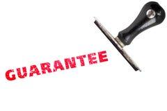 Guarantee stamp text Stock Photography