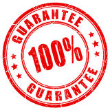 100 guarantee stamp Stock Photo