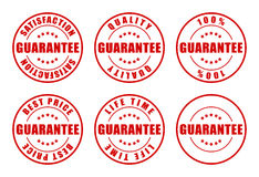 Guarantee Stamps. Collection - Various popular stamps Stock Photography