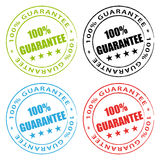 100% guarantee stamps. Guarantee set Stock Images