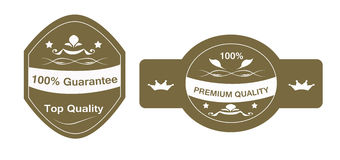 Guarantee Sticker. Sticker set with guarantee and premium written Royalty Free Stock Photos