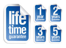 Guarantee stickers set Royalty Free Stock Image