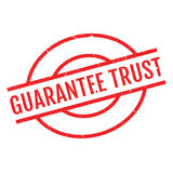 Guarantee Trust rubber stamp Royalty Free Stock Photos