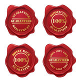 Guarantee wax seal collection Royalty Free Stock Images