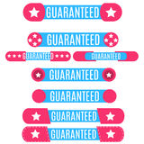 Guaranteed banners collection. Stock Images
