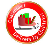 Guaranteed Christmas Delivery Royalty Free Stock Photo