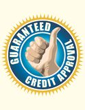 Guaranteed Credit Approval Royalty Free Stock Photography