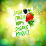 Guaranteed Farm Fresh Organic Product Stock Images