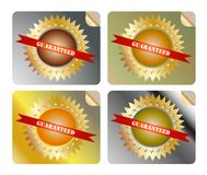 Guaranteed label colorful Royalty Free Stock Photography