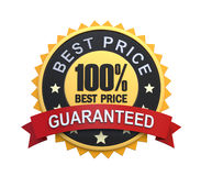 Guaranteed Label with Gold Badge Sign Stock Image