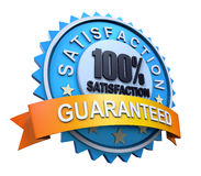 Guaranteed Label with Gold Badge Sign Stock Images