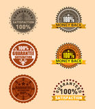 Guaranteed label set Stock Images