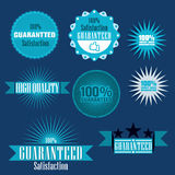 Guaranteed label set Royalty Free Stock Images