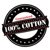 Guaranteed one hundred percent cotton Royalty Free Stock Photography