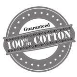 Guaranteed one hundred percent cotton Royalty Free Stock Photo
