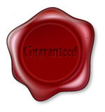 Guaranteed red wax seal Royalty Free Stock Images