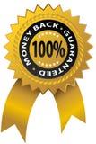 Guaranteed Ribbon. An image of a 100% money back guaranteed ribbon Stock Photography