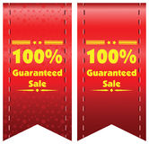 100% guaranteed sale  label or badge. One hundred percent guarantee Royalty Free Stock Image
