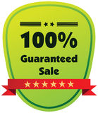 100% guaranteed sale  label or badge. One hundred percent guarantee Stock Image
