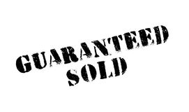 Guaranteed Sold rubber stamp Stock Image