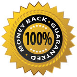 Guaranteed Stamp. An image of a 100% money back guaranteed stamp royalty free illustration