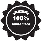 100% Guaranteed vector sign. Illustration label Royalty Free Illustration