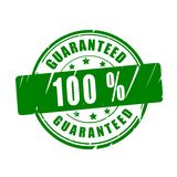 100 % guaranteed vector stamp. 100 % guaranteed vector illustration stamp Stock Photos