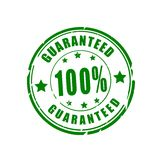 100 % guaranteed vector stamp. 100 % guaranteed vector illustration stamp Stock Image