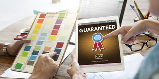 Guaranteed Warranty Quality Safety Service Concept Royalty Free Stock Image