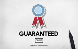 Guaranteed Warranty Quality Safety Service Concept Stock Photo