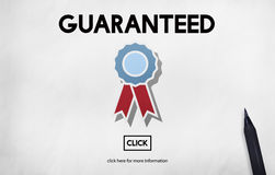 Guaranteed Warranty Quality Safety Service Concept Royalty Free Stock Images