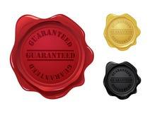 Guaranteed wax seals royalty free illustration