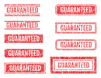 Guaranteed Word Rubber Stamps Grunge Style Set Royalty Free Stock Photo