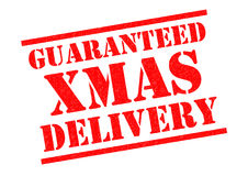 GUARANTEED XMAS DELIVERY Royalty Free Stock Images