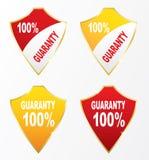Guaranty för sköldsymboler 100% Royaltyfri Foto