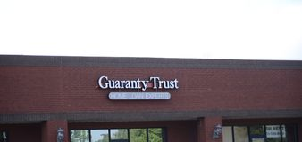 Guaranty Trust, Atoka, Tennessee. Since 1986, Guaranty Trust has been a leader in residential mortgage lending. Locally owned and operated in Tennessee, we royalty free stock image