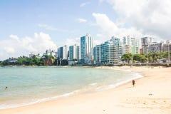 Guarapari海滩, Guarapari, EspÃrito Santo状态,巴西 库存照片