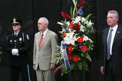 The Guard 1. Annual Memorial Day observance at the Vietnam Memorial wall Royalty Free Stock Images