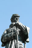 The guard. Statue of a confederate guard standing over a tomb of 500 unknown confederate soldiers Stock Image