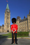 On Guard. Guard on duty in front of Canada's Parliament Building Stock Photo