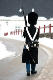 Guard. Castel of fredensborg in denmark a sunny winter day stock photo