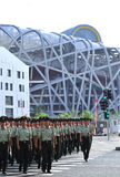 Guard the Beijing olympic game royalty free stock images