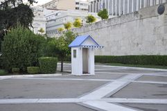 Guard Box of the Parliament House from Athens in Greece. On september 2017 royalty free stock images