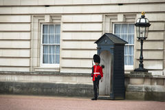 Guard of Buckingham Palace in London, UK Royalty Free Stock Photo