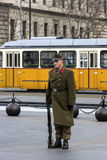 Guard in Budapest, Hungary Stock Photos