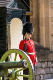 Guard at Castle Tower of London , UK. Royalty Free Stock Image